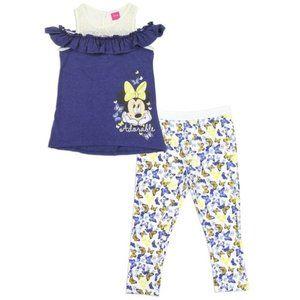 🎁✨Minnie Mouse Girls 2-Piece Fashion Legging Set.
